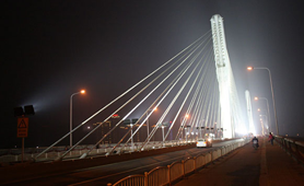 LED floodlights in Bridge lighting project