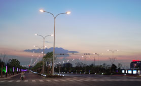 led street light used in road lighting in China